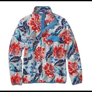 Rare Patagonia Synchilla Floral Hawaiian Fleece XS